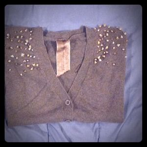 Moon Collextion Studded Cardigan